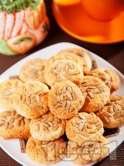 Кокосови масленки (маслени сладки) със слънчоглед - снимка на рецептата